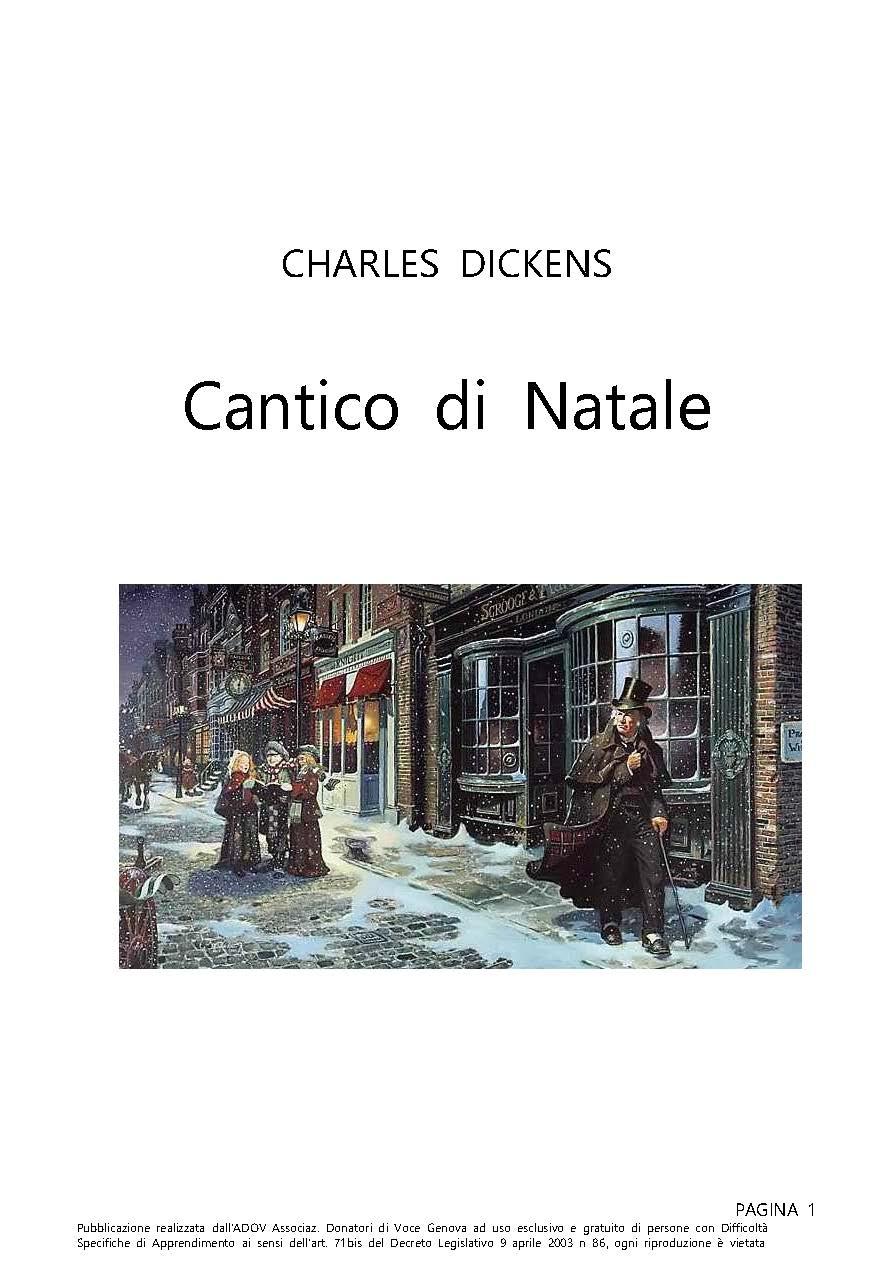 DICKENS CHARLES CANTICO DI NATALE COPERTINA