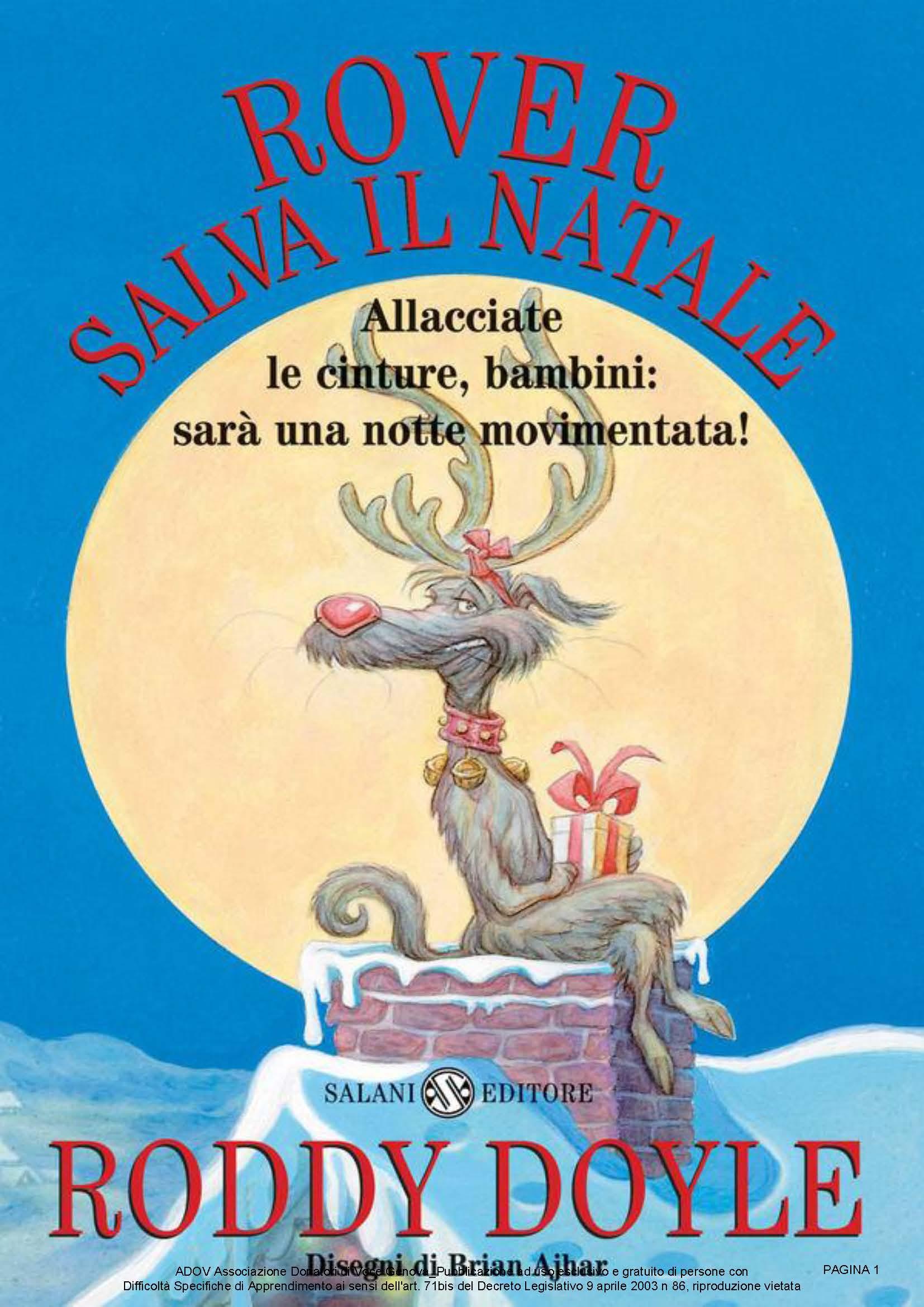 DOYLE RODDY - ROVER SALVA IL NATALE COPERTINA